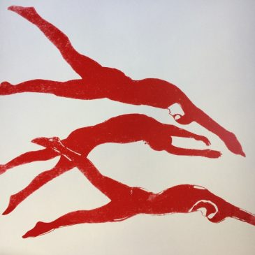 Trio of Divers (Red)