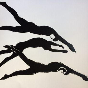 Trio of Divers (Black)